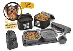 Dog Travel Food Set For Small Dogs - 7pk Including Collapsib