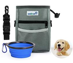 Pawaboo Dog Treat Training Pouch Bag & Collapsible Silicone