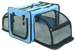 PET LIFE 'Capacious' Dual-Sided Expandable Spacious Wire Fol