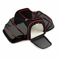 Expandable Carrier For Small Dogs Cats Soft Sided Crate Car