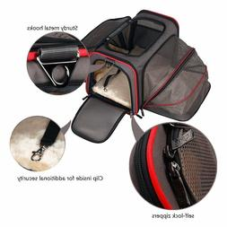 Expandable Pet Carrier Dog Bag Small Carriers Airline Approv