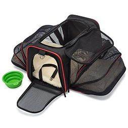 Expandable Soft Pet Carrier Airline Approved Easy Carry On L