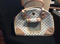 Wopet fashion pet dog carrier PU leather dog carriers luxury