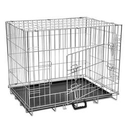 foldable dog puppy cage carrier crate kennel