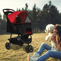 Foldable Dog Stroller Pet Travel Carriage Portable Carrier w