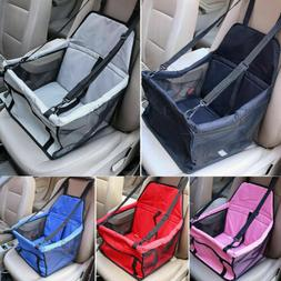 Foldable Pet Dog Car Seat Front Rear Basket Sided Bag Safty
