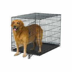 "New World 42"" Folding Metal Dog Crate, Includes Leak-Proof P"