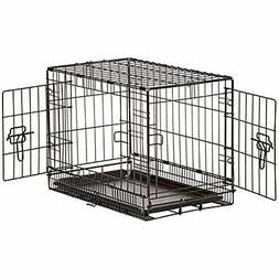 AmazonBasics Single Door & Double Door Folding Metal Dog Cra