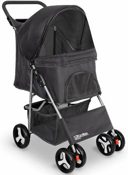 Paws & Pals Pet Stroller Cat/Dog Easy Walk Folding Travel Ca