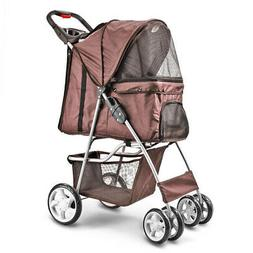 Folding Travel Pet Stroller Cat Dog Walk Jogger Foldable Car