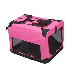 Magshion Folding Soft Crates Kennels Travel Carrier With Met
