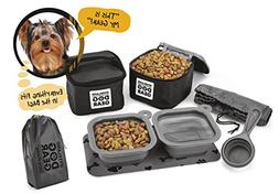 Dog Travel Food Set For Small Dogs  - 7pk Including Collapsi