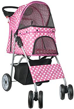 VIVO Four Wheel Pet Stroller, for Cat, Dog and More, Foldabl