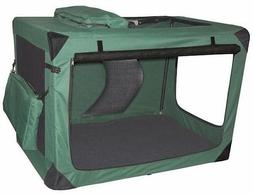 Generation II Deluxe Portable Soft Dog Crate in Moss Green -