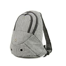 Evelyne Gray Small Pet Dog Cat Puppy Carrier Backpack with Z