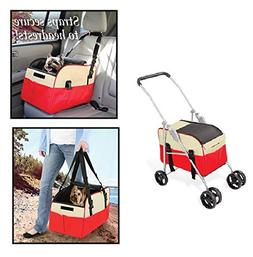 Great Combination 3-in-1 Pet Stroller, Carrier and Car Seat