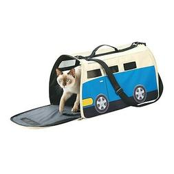 Happy Camper Pet Carrier - VW Bus Shaped Small Dog or Cat Ca