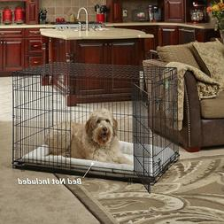 MidWest Homes for Pets Dog Crate | iCrate Double Door Foldin