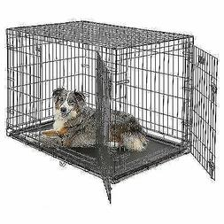 MidWest iCrate Folding Metal Dog Crate Double Door 42-Inch w
