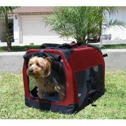 """30"""" Ideal Soft Side Foldable Pet Crate/Carrier for Travel, I"""