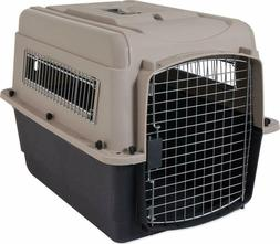 Kennel Dog Crate Plastic Travel Airline Pet Carrier Large Lb