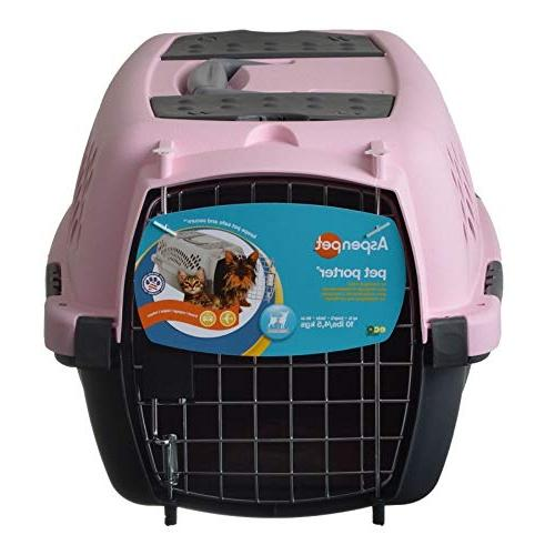 Aspen Pet Porter Pet Carrier with Lock, 9 Colors