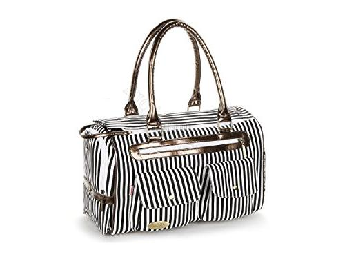 223bkt black white stripe canvas