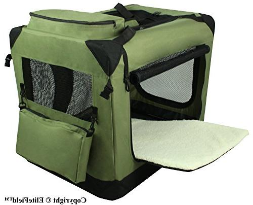 EliteField Folding Dog Crate, Outdoor Pet Sizes and