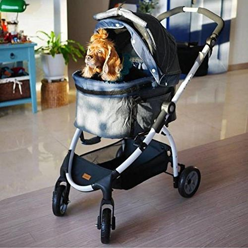 ibiyaya Wheel Dog Stroller 3-in-1 Car Seat Stroller in Great Travel with One Medium or and Cats Build-in Suspension