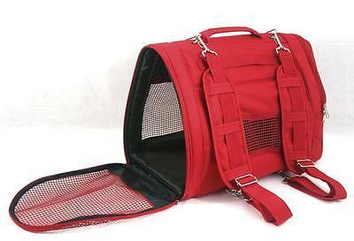 Prefer Pets Backpack Pet Carrier, Red