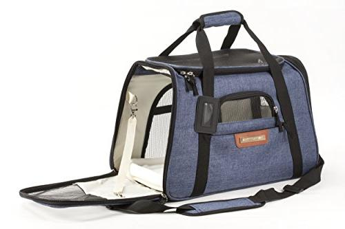 Pawfect Pets Pet Carrier Soft-Sided Cat Carrier Carrier for Dogs Cats, Fits Seat. with Two Fleece Pet