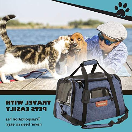 Pet Carrier and Dog for Cats, Underneath Seat. Two Fleece Pet
