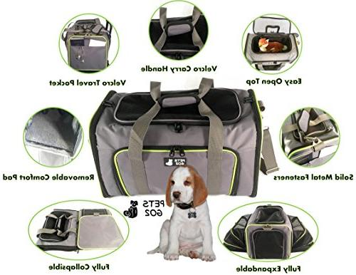 PETS Pet for & - Expandable - Portable Soft-Sided Air Travel - Best for Small or Medium