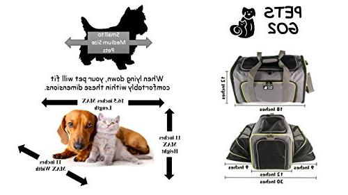 PETS Pet for Dogs & Cats - Airline Approved Premium Expandable Animal - Travel Bag Best for Small or Medium Dog Cat