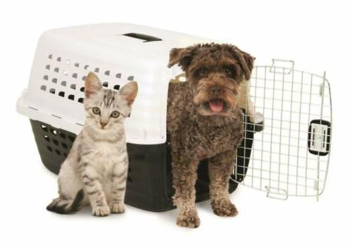 Carrier Pets Chrome Door White&Black Crate!!