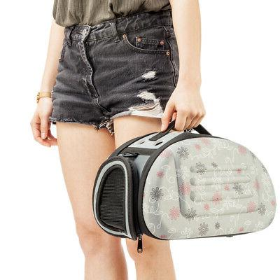 Cat & Pet Carrier Airline Approved Travel Carriers Bag Small Animal