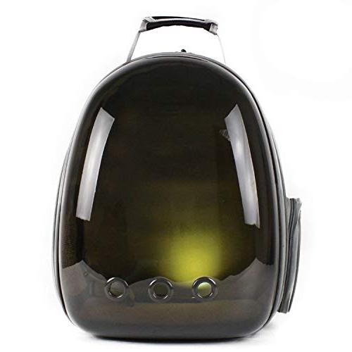 shine-hearty Cat Backpack Translucent Breathable Dog Carrier Outdoor Travel Carrier Carrier,5,29X27X42CM