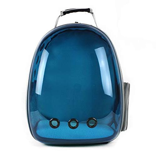shine-hearty Cat Backpack Translucent Breathable Dog Outdoor Pet Bag Capsule