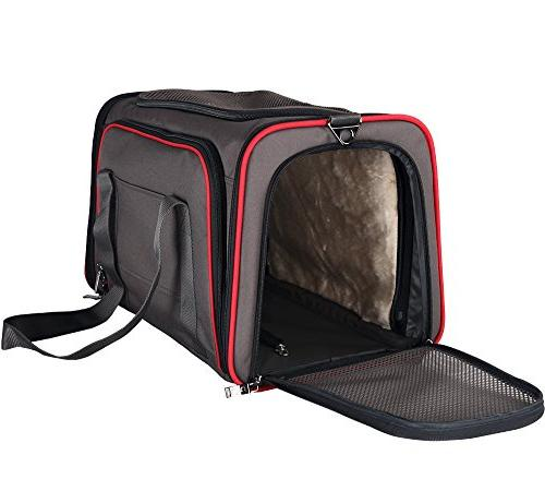 "Dog Carrier Medium Dogs, Expandable Most Side Easy on Luggage with Mat x 12"" x 12"""