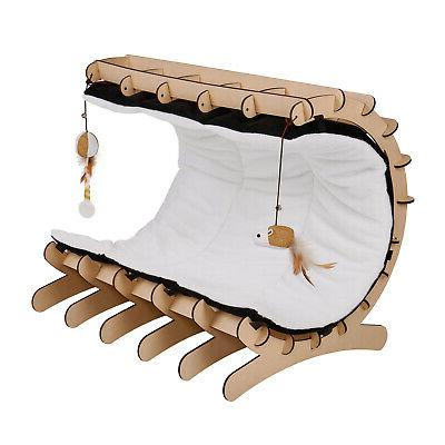 Cat Kitty Lounge Bed House with and Toys