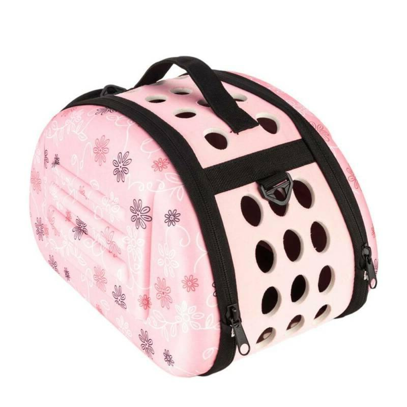 Comfort Travel Carry Handbag For Small Animal Cat Puppy Pink