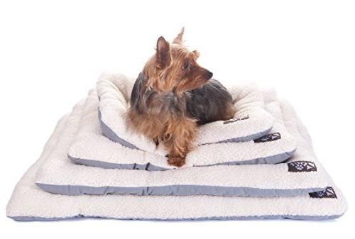 2PET Crate Cushion Crate Mat Machine Washable for Lightweight Dog and Pet Carriers -