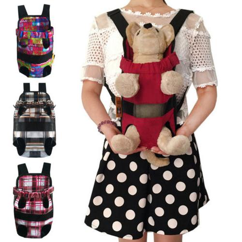 cute dog cat canvas backpack comfort front