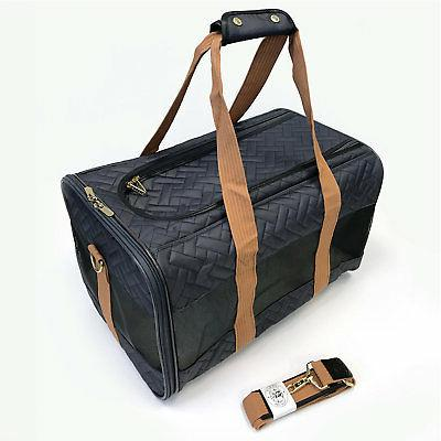 deluxe charcoal camel pet carrier