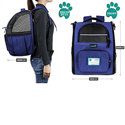 PetAmi Backpack Small and Ventilated Safety and Back   for Travel,