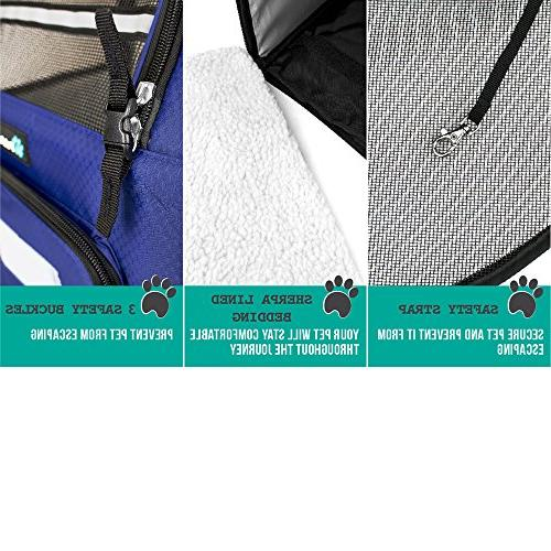 PetAmi Pet Backpack Small and Ventilated Design, Two-Sided Safety Features Back Support for