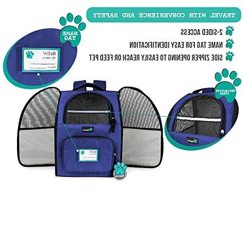 Backpack Small Ventilated Design, Safety and Cushion Back Support Travel, Outdoor