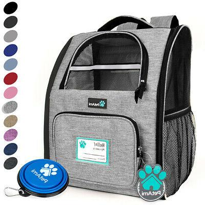 Pet Carrier Backpack for Cat Small Dog Travel Hiking Airline
