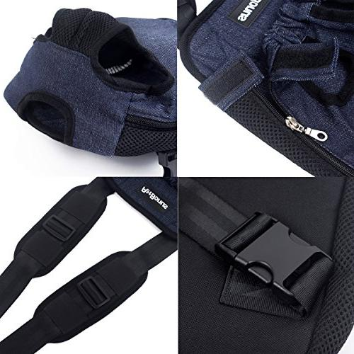 PetBonus Kangaroo Pouch Wide Pads, Adjustable and Out Pet Carrier, for Travel, Camping