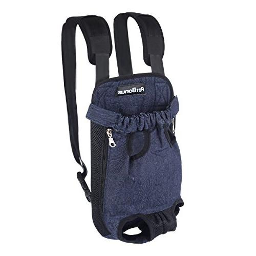 PetBonus Kangaroo Pouch Dog Wide Straps Shoulder Out Pet Backpack for Camping